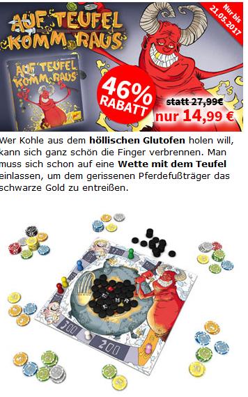 """""""Auf Teufel komm raus"""" Brettspiel für nur 16,89 Euro"""