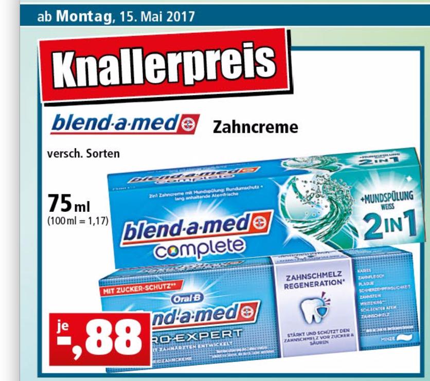 Thomas Philipps - blend-a-med Pro Expert und blend-a-med Complete Zahncreme für 0,88€