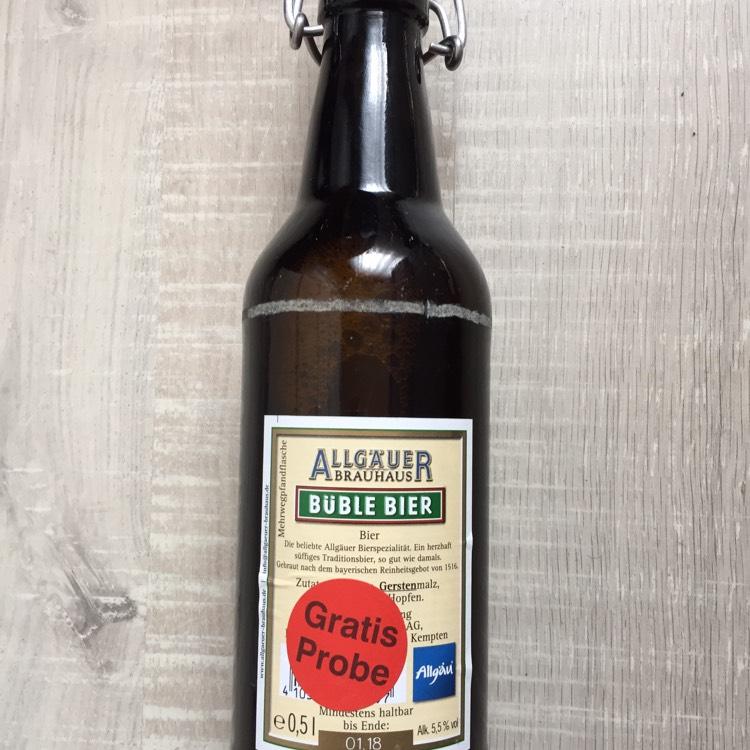 [Rewe Center lokal] Allgäuer Büble Bier Gratisprobe
