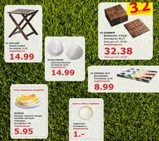 RUNNEN Bodenrost - 3 für 2!- Angebot für den verkaufsoffenen Sonntag bei IKEA Kaiserslautern