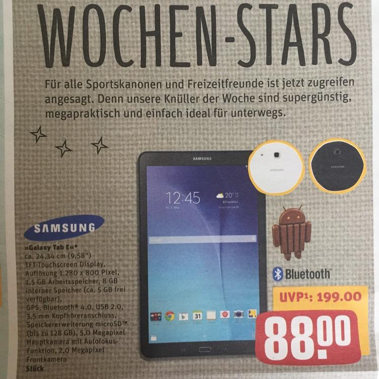 [Lokal verschiedene Rewe-Standorte] Samsung Galaxy Tab E Wifi für 88€ mit Gutschein für 70,40€ (ab 15.05.)