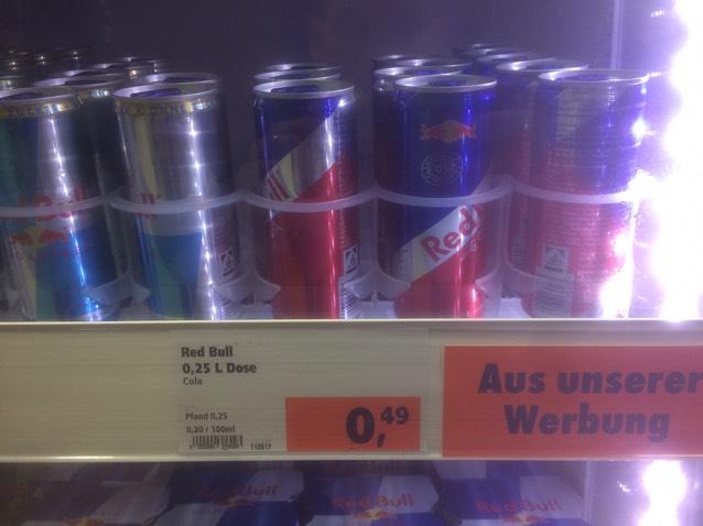 Red Bull Cola im abverkauf im Globus Baumarkt Zweibrücken