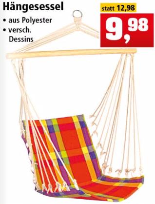 [Thomas Philipps] Hängesessel aus Polyester für 9,98€