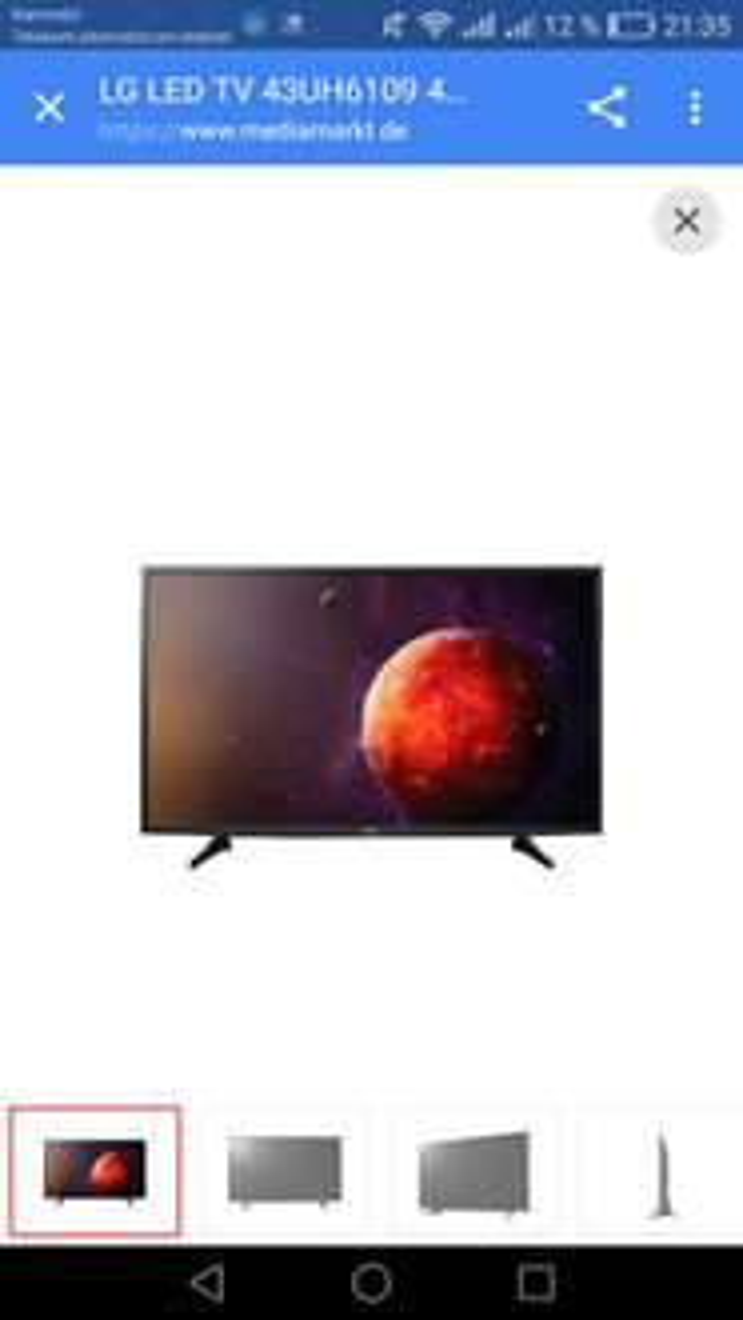 LG 43UH6109 LED TV (Flat, 43 Zoll, UHD 4K, SMART TV, web OS)Nur noch bei NBB bei Zahlung mit Masterpass, ansonsten 400,99 Euro