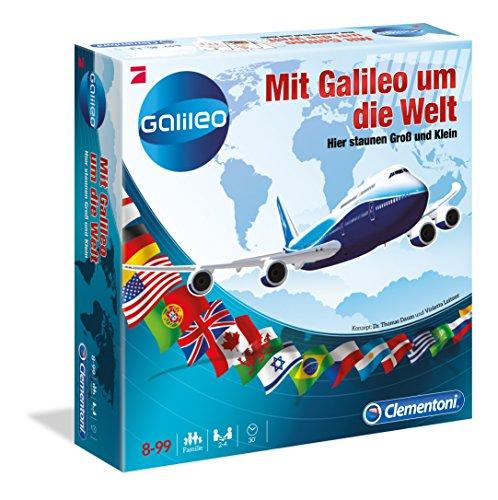 Amazon Plus Produkt: Mit Galileo um die Welt (Clementoni 69127.2 Brettspiel) für 4,36 € (15,94 € PVG)