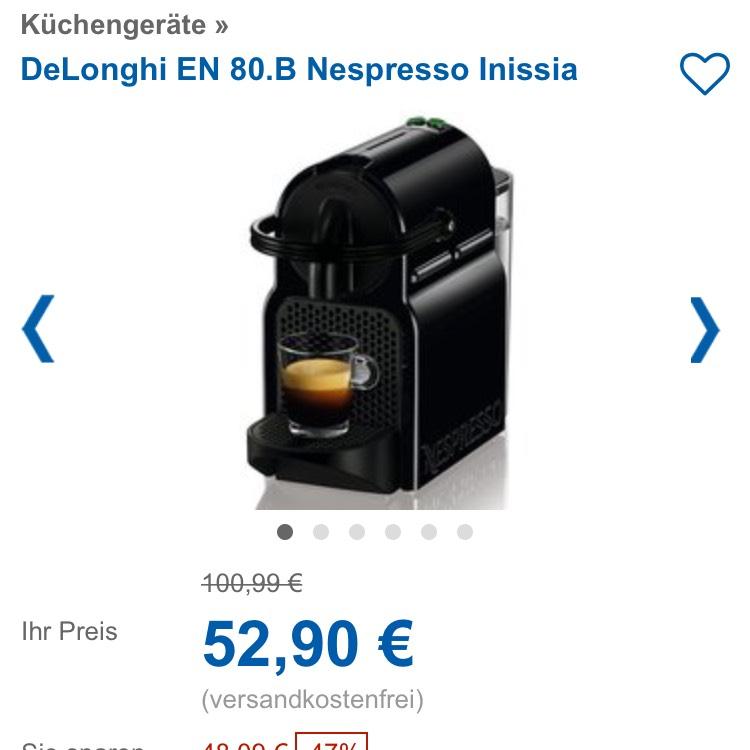 DELONGHI INISSIA nespresso Maschine für rechnerisch 12,90€ | UPDATE!