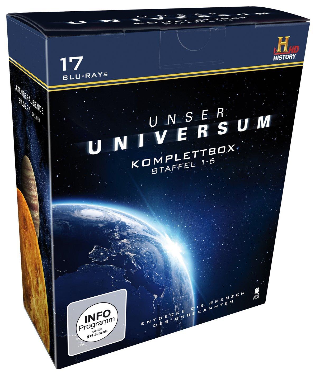Unser Universum - Die Komplettbox, Staffel 1-6 (Blu-ray) für 18,97€ (Amazon Prime)