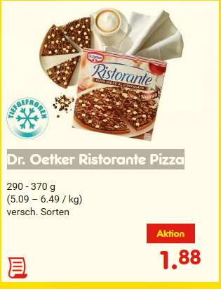 netto dr oetker ristorante pizza auch dolce al cioccolato g ltig von montag. Black Bedroom Furniture Sets. Home Design Ideas