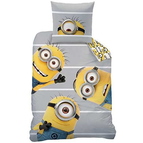 amazon prime geilo minions bettw sche 135x200 80x80 f rn 10er. Black Bedroom Furniture Sets. Home Design Ideas