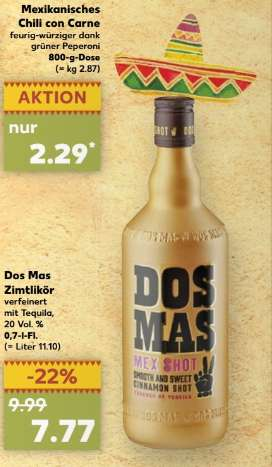 Kaufland dos mas zimtlik r mit tequila 0 7 liter - Dos mas dos ...