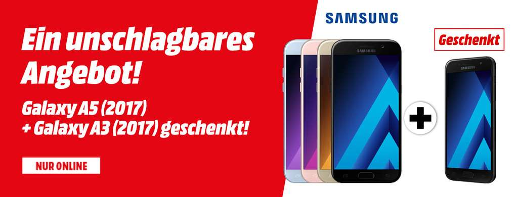 mediamarkt at samsung galaxy a5 2017 galaxy a3 2017. Black Bedroom Furniture Sets. Home Design Ideas