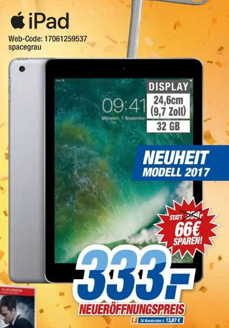 Lokal hem expert apple ipad 2017 32gb wifi spacegrau for Hem satteldorf prospekt