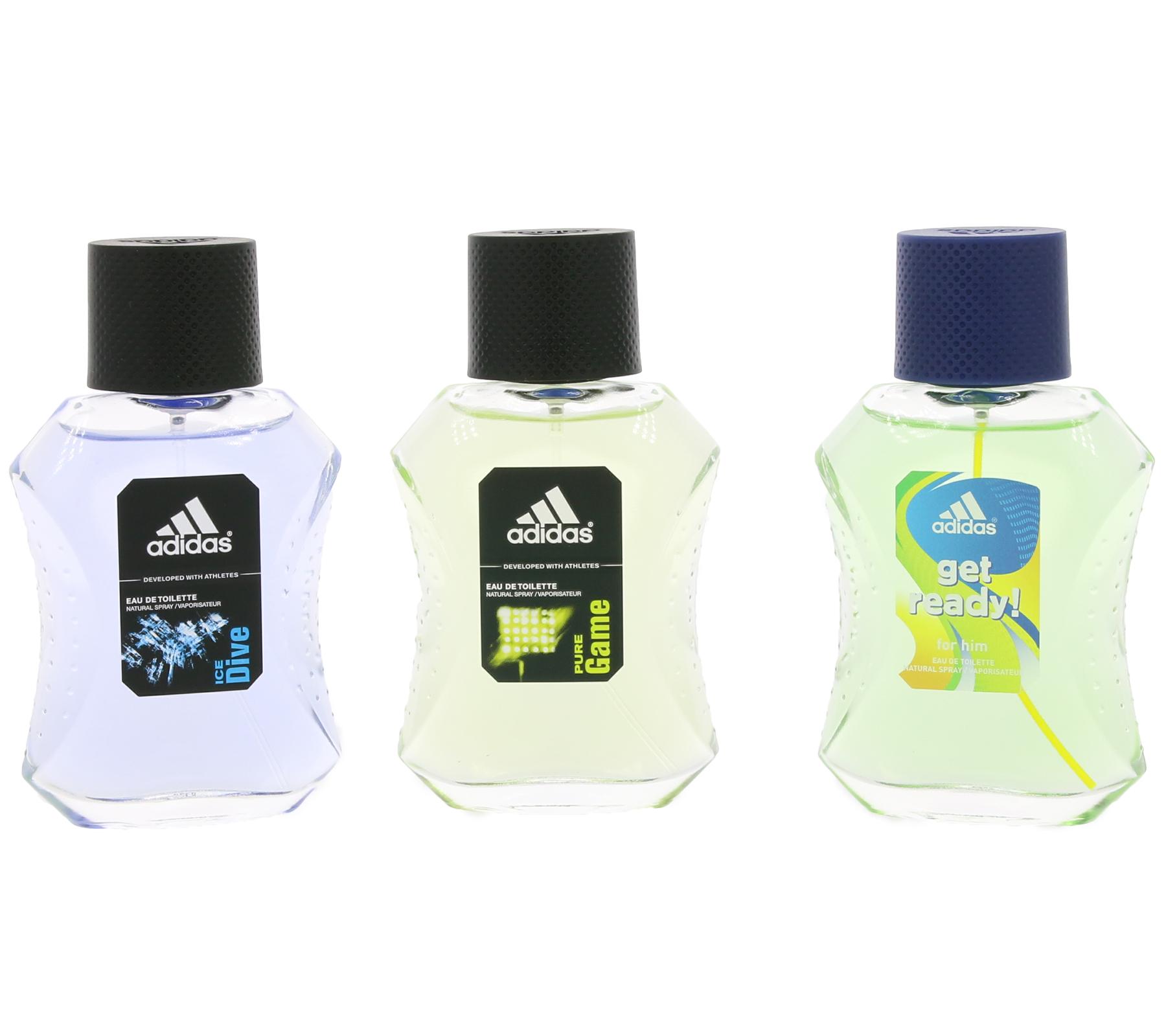 adidas eau de toilette natural spray geschenkset parf m. Black Bedroom Furniture Sets. Home Design Ideas