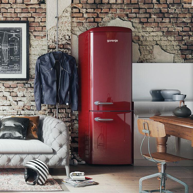 Retrokühlschränke  Gorenje SparTage bei ao - z.B. rote Retro-Kühlschränke ab 264 ...