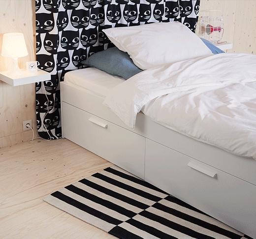 Verschiedene Betten Mit Aufbewahrung Fur Ikea Family Mitglieder