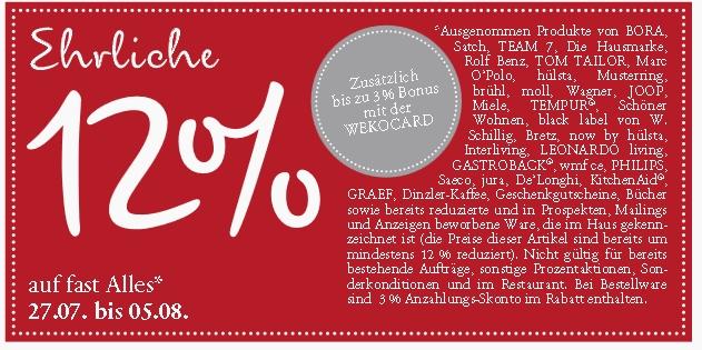 Regional] 12% Weko Einrichtungshaus - mydealz.de
