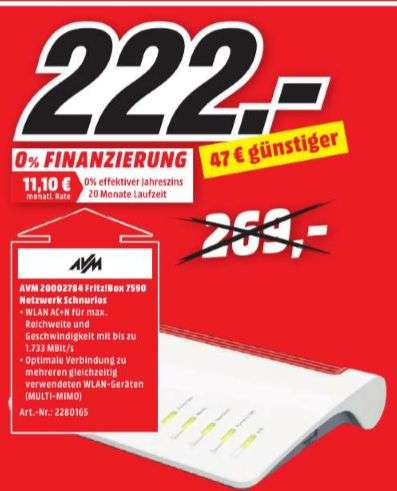 lokal mediamarkt lingen meppen avm fritz box 7590 high end wlan ac n router vdsl adsl. Black Bedroom Furniture Sets. Home Design Ideas