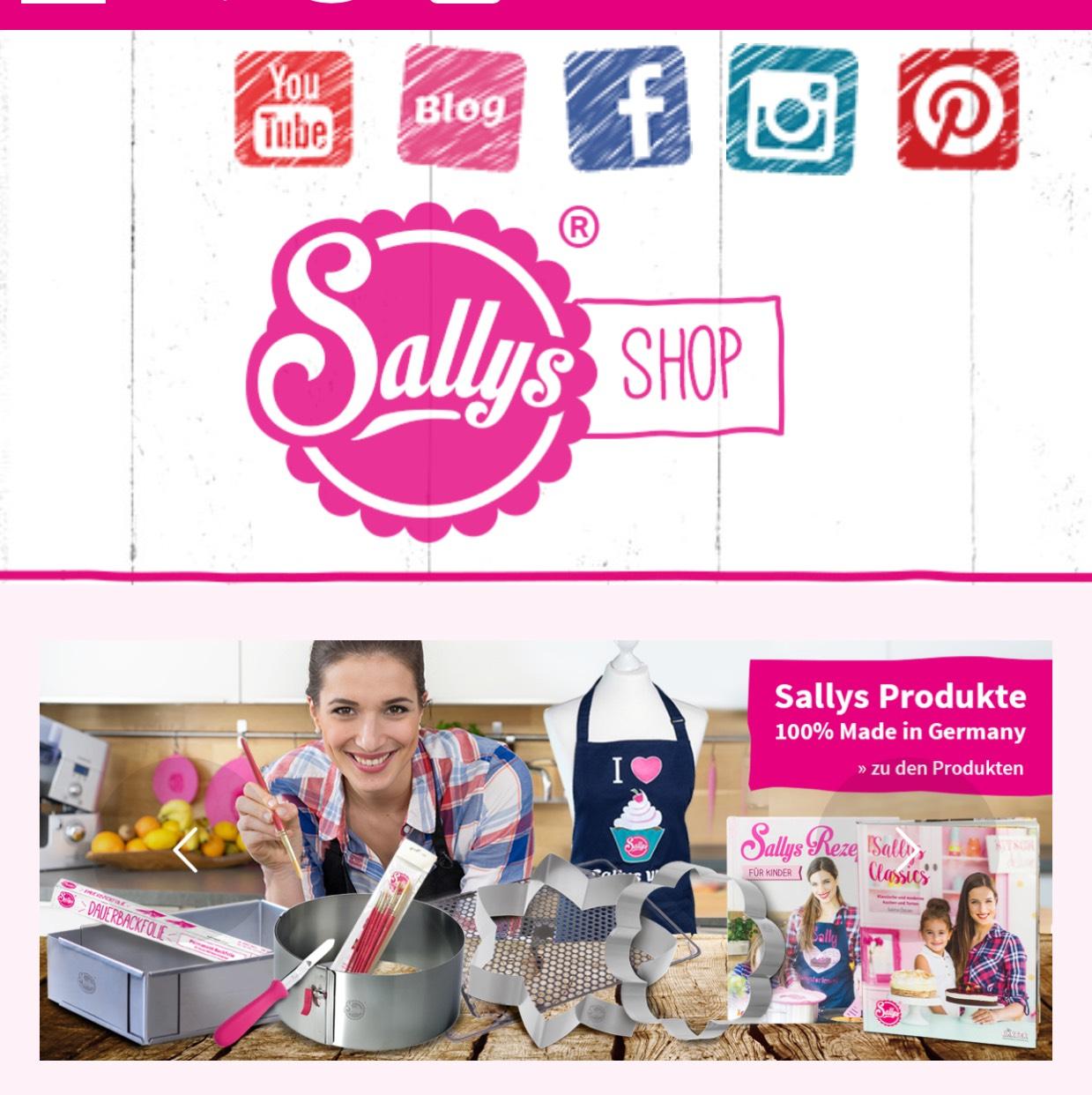 sally 39 s shop online 10 rabatt back koch zubeh r. Black Bedroom Furniture Sets. Home Design Ideas
