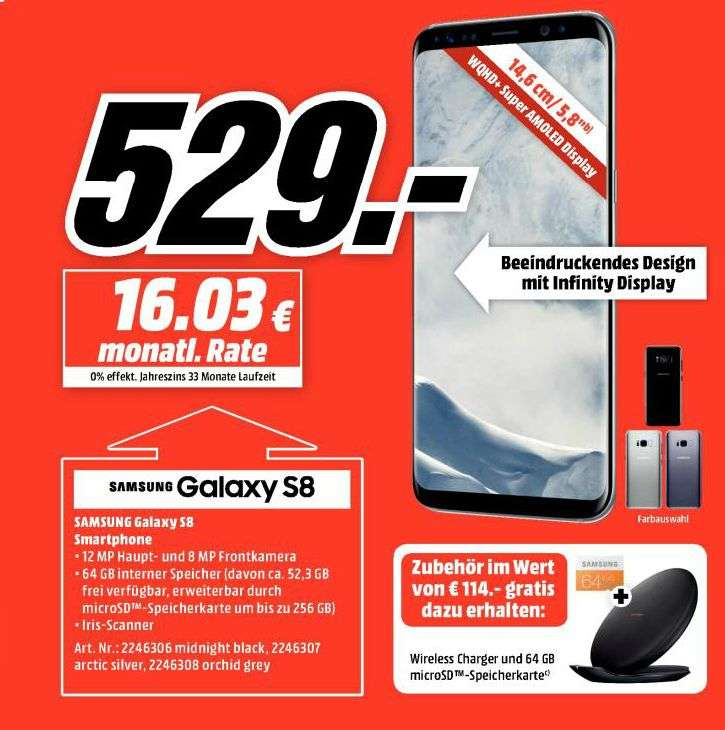 mediamarkt saturn samsung galaxy s8 in allen farben. Black Bedroom Furniture Sets. Home Design Ideas