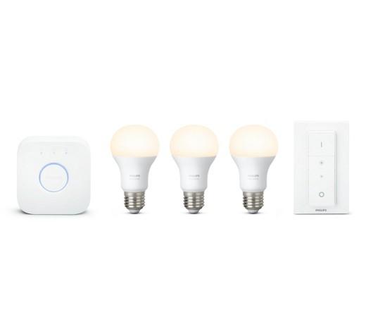 Philips Hue White E27 LED Lampe Starter Set, drei Lampen inkl ...