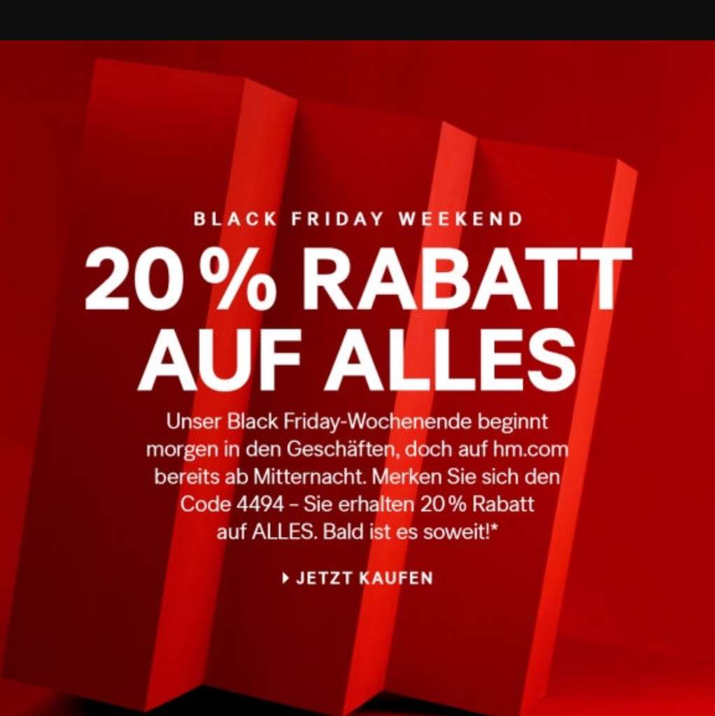 Hm Black Friday 2019 Angebote Deals Mydealzde