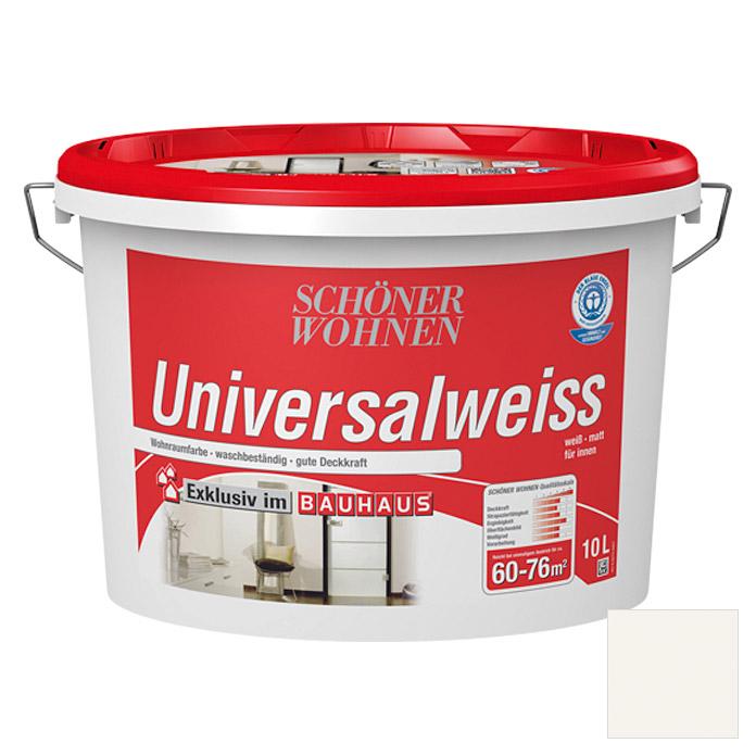 Schöner Wohnen Universalweiß Wandfarbe (Weiß, 10 L, Matt