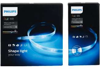 philips pl24085 hue light strip basis 1x 2m lightstrip basisset 1x lightstrip plus 1m. Black Bedroom Furniture Sets. Home Design Ideas
