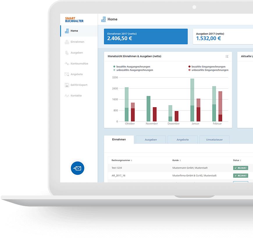 Smartbuchhalter Kostenlose Buchhaltungssoftware Für Selbstständige