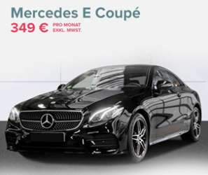leasing gewerbe mercedes benz e 220 coup amg line 349. Black Bedroom Furniture Sets. Home Design Ideas