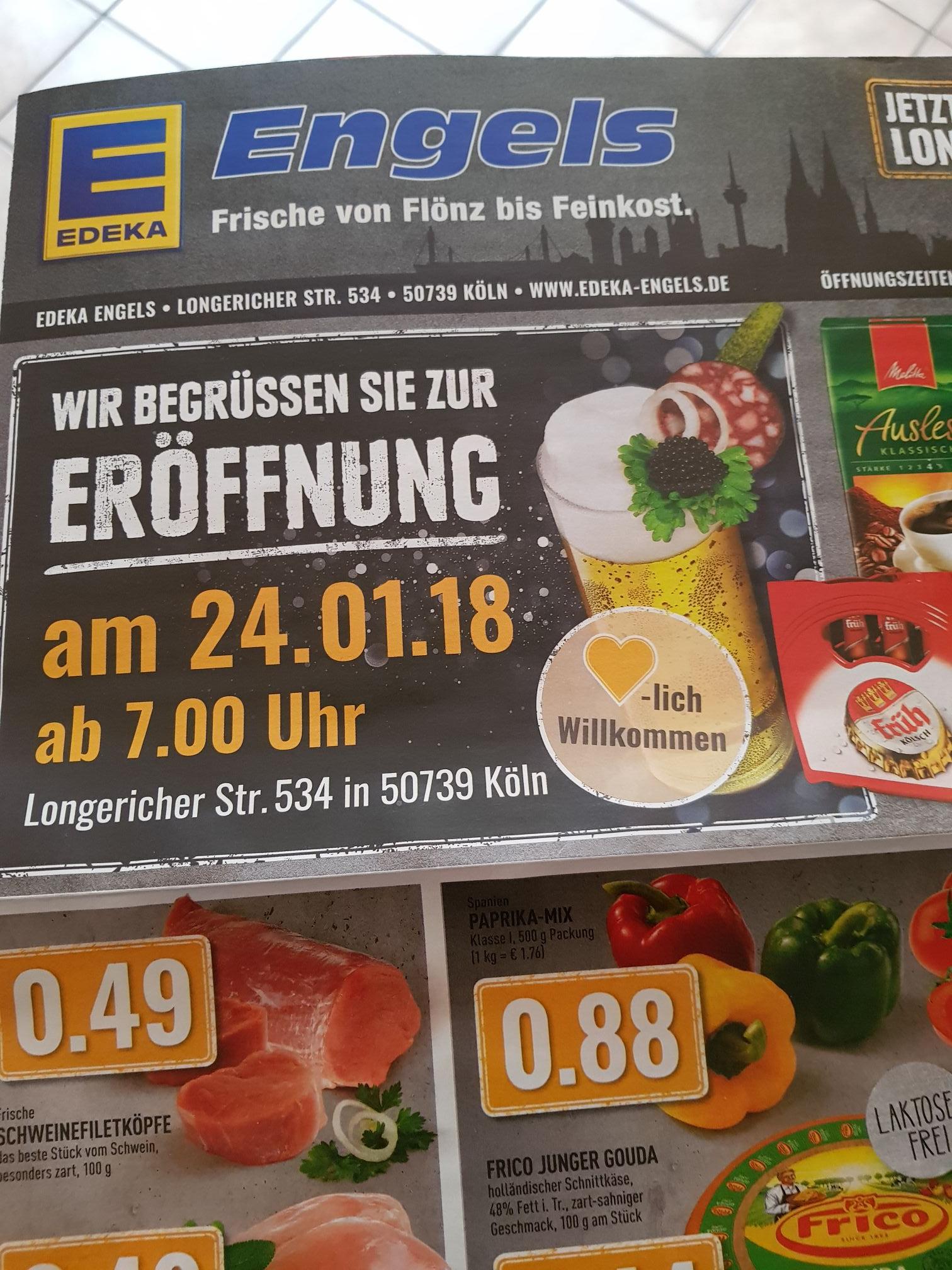 Edeka + Nelles Neueröffnung Köln Longerich Sammeldeal Lokal u.a. ...