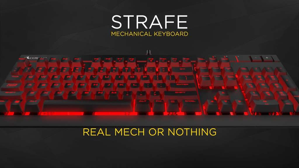 corsair gaming strafe cherry mx red. Black Bedroom Furniture Sets. Home Design Ideas