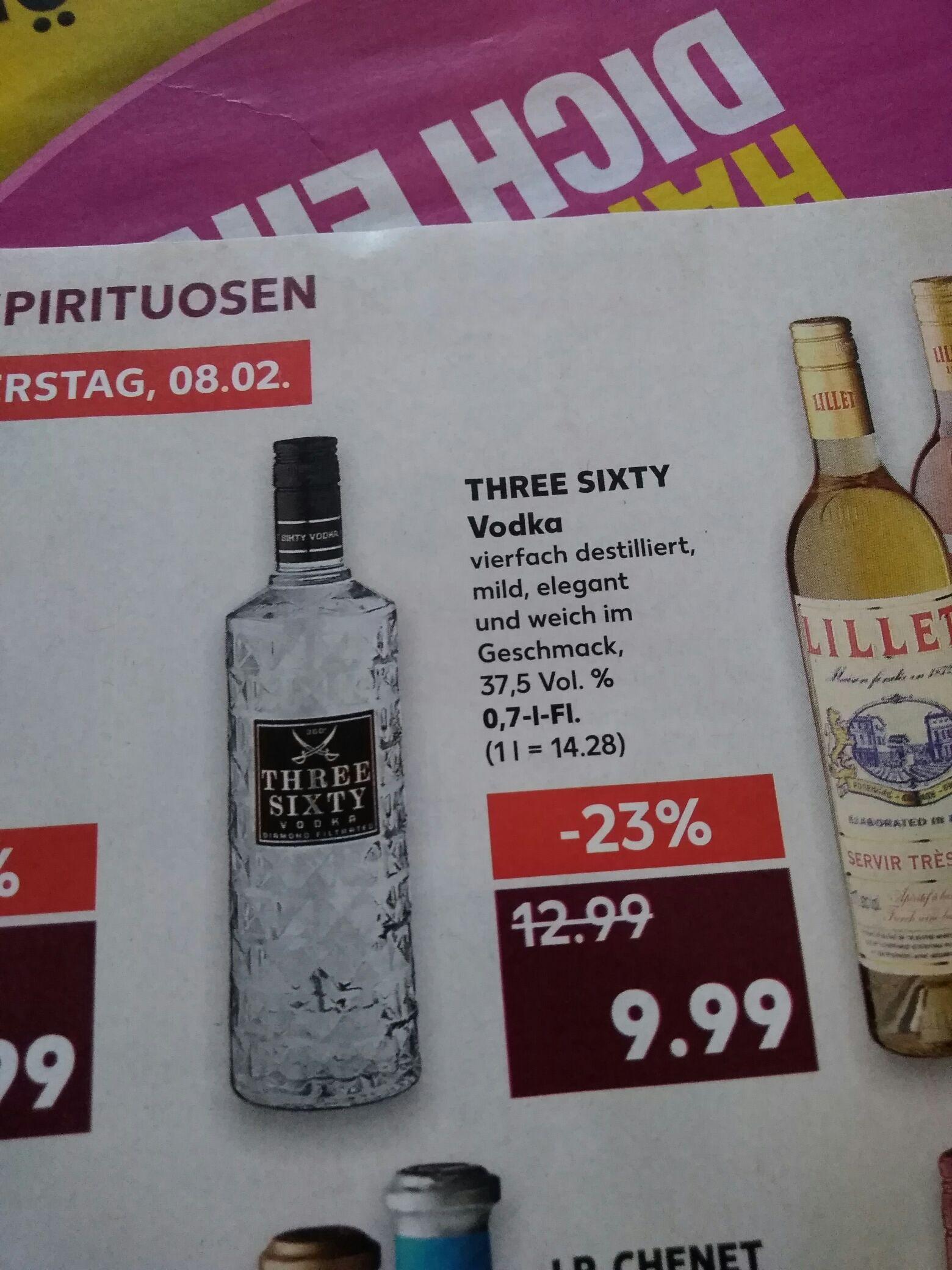 Kaufland] Three Sixty Vodka 0.7l - mydealz.de