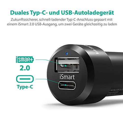 ravpower typ c und ismart 2 0 usb autoladeger t ravpower usb c auf usb c kabelset 2 pack f r 3. Black Bedroom Furniture Sets. Home Design Ideas