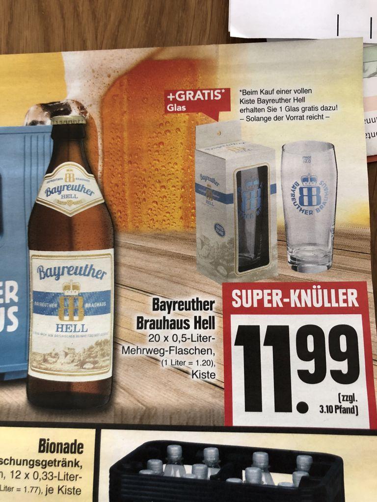 BAYREUTHER Bier bei Edeka (inkl. Glas) - mydealz.de