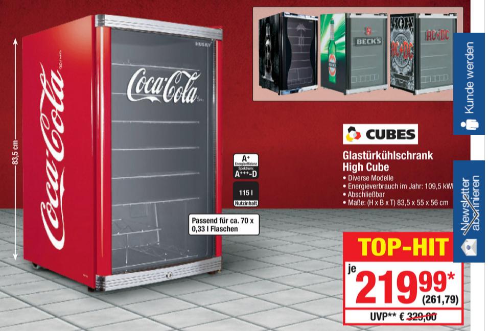 Glastürkühlschrank High Cube Metro ACHTUNG!! 50 Euro - Gutschein ...