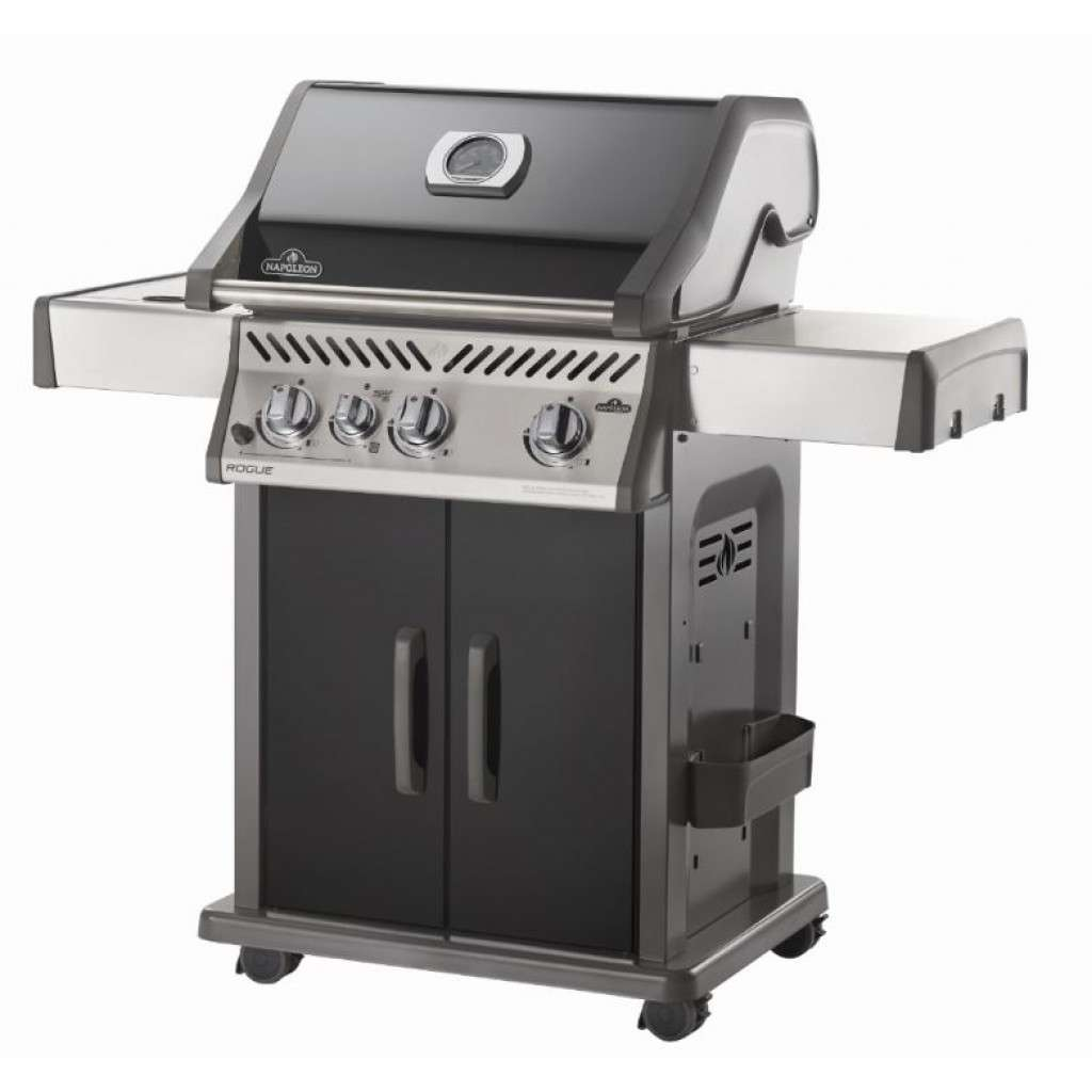 napoleon rogue r425-3 black oder edelstahl gasgrill mit sizzle zone