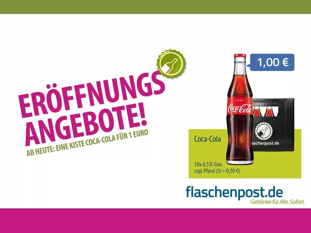 Nur 1€ [Lokal Düsseldorf] 10x 0,33l Coca Cola Glasflaschen, 10x 0 ...