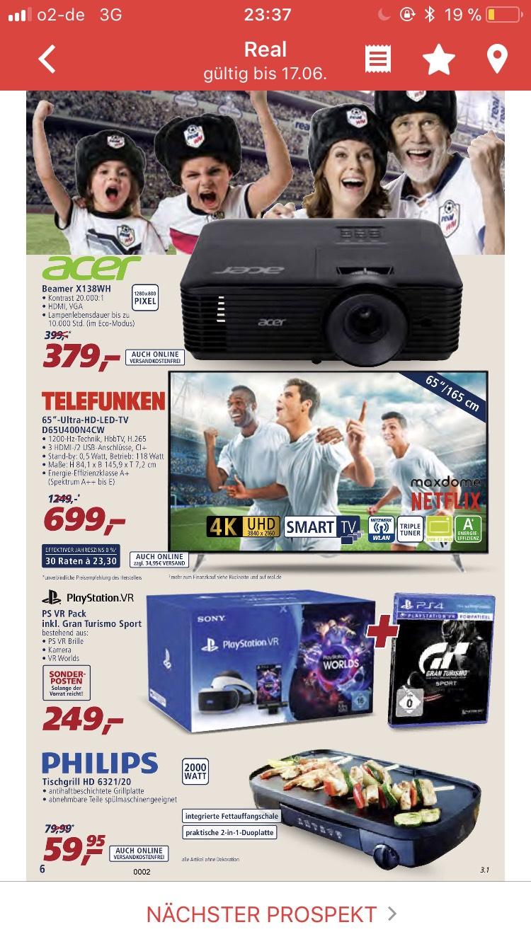 Telefunken Ultra HD LED TV 165 Cm 65 Zoll D65U400N4CW Triple Tuner SmartTV