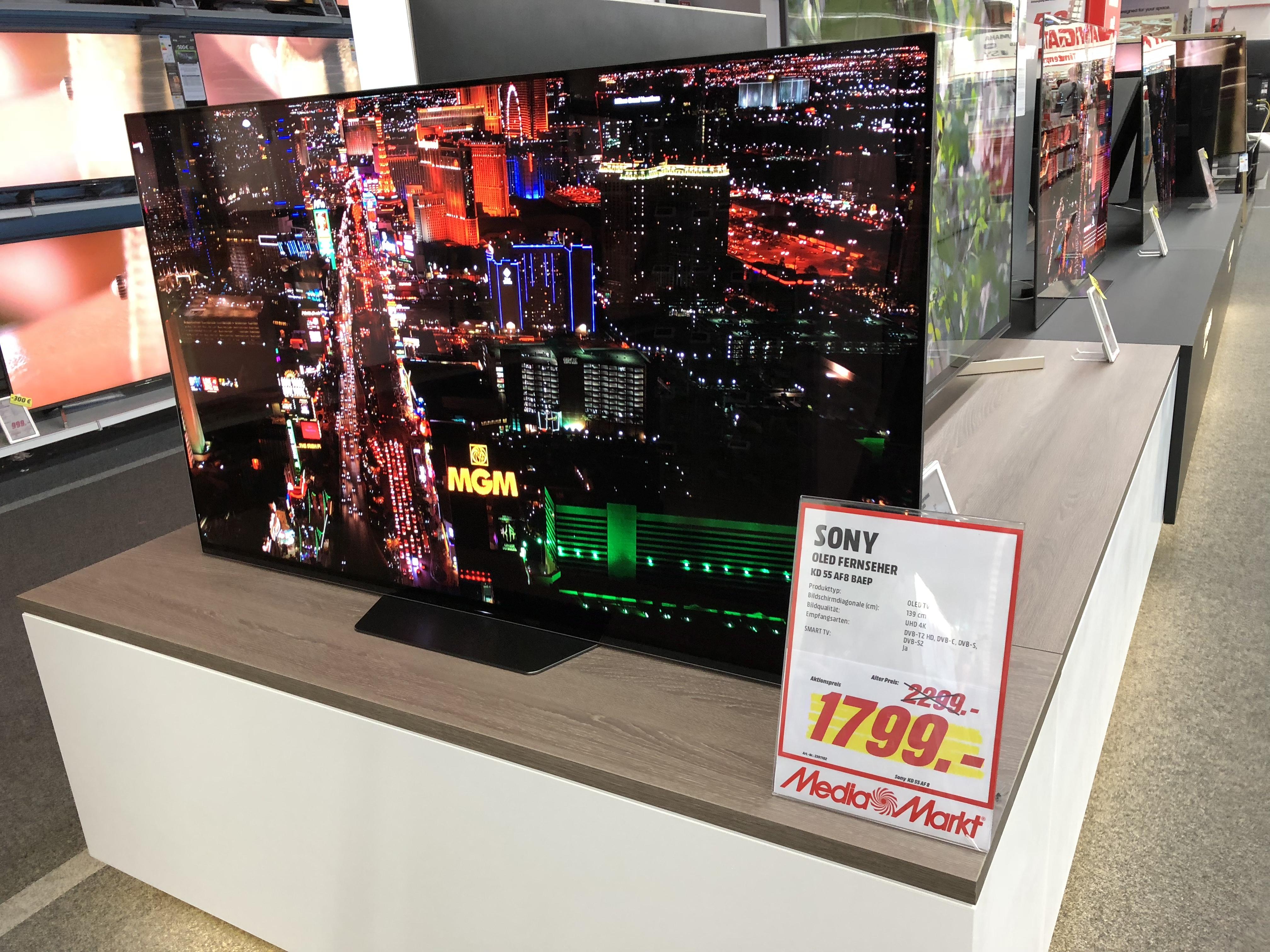 lokal media markt k ln arcaden sony oled tv kd 55af8. Black Bedroom Furniture Sets. Home Design Ideas