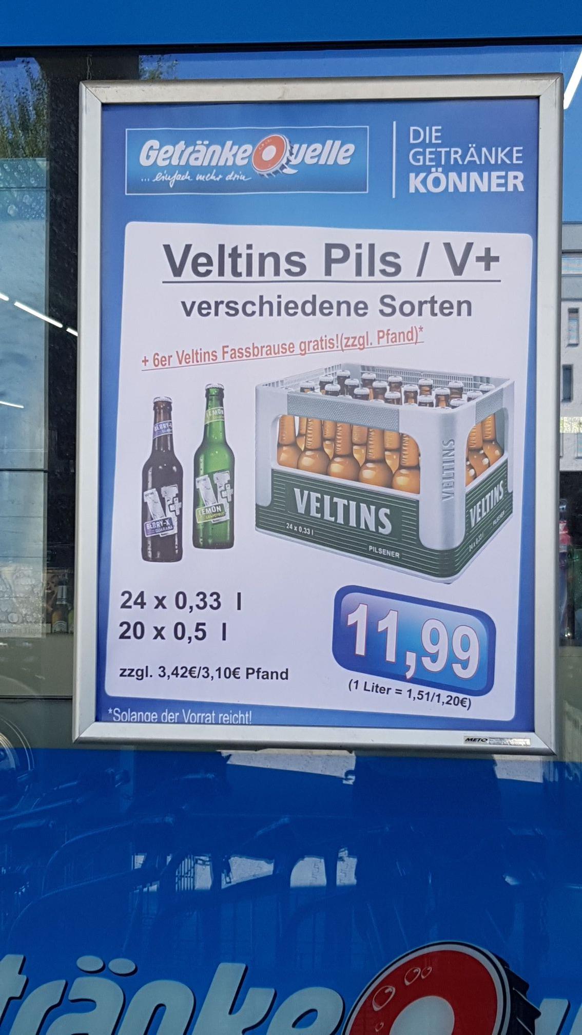 Lokal Göttingen Getränkequelle] Veltins V+ Kasten & 6-Pack ...