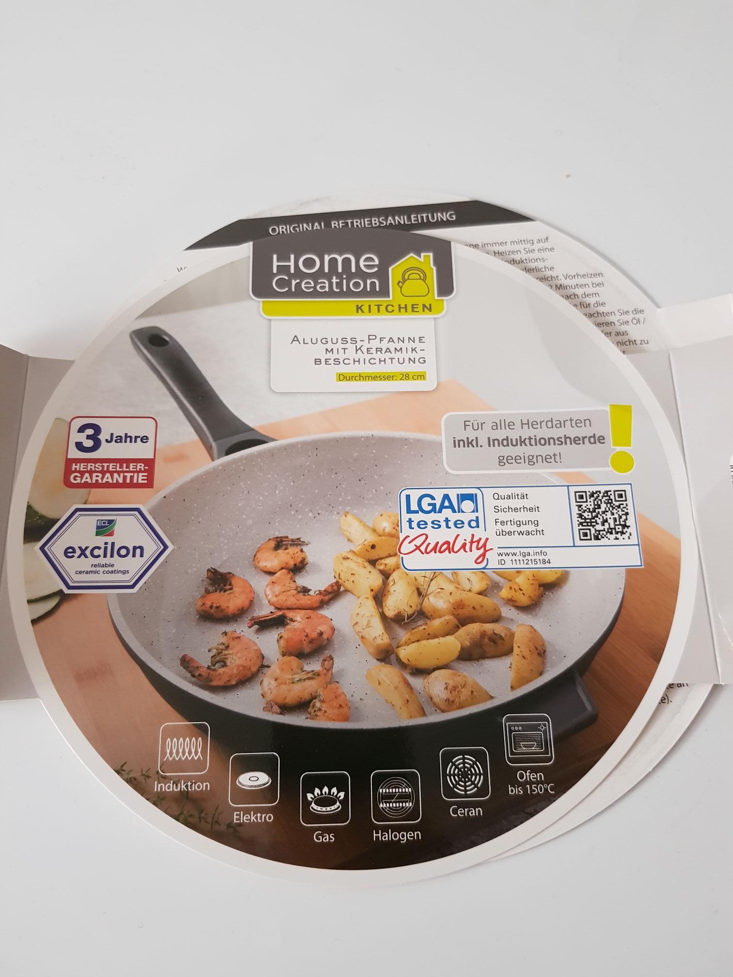 aldi nord home creation kitchen aluguss pfanne mit keramikbeschichtung 28cm. Black Bedroom Furniture Sets. Home Design Ideas