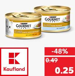 kaufland gourmet gold katzenfutter f r 25cent die dose verschiedene sorten. Black Bedroom Furniture Sets. Home Design Ideas