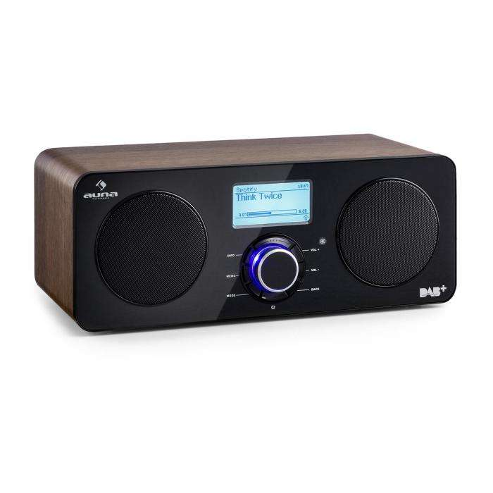 auna worldwide stereo internet radio walnuss timer lcd. Black Bedroom Furniture Sets. Home Design Ideas