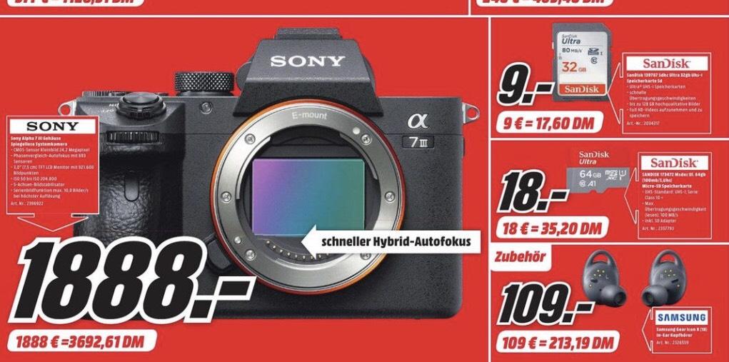 Sony A 7 Iii Body Media Markt Wiesbaden Mydealzde