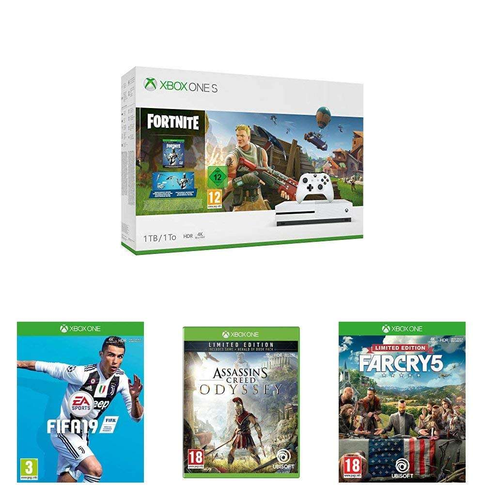 Xbox One S 1tb Fortnite Konsole Mit Eon Cosmetic Set 2000 V Bucks