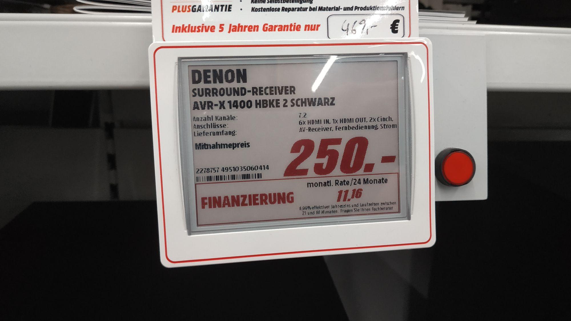 Lokaldenon Avr X1400 Im Media Markt Im Abverkauf Mydealzde