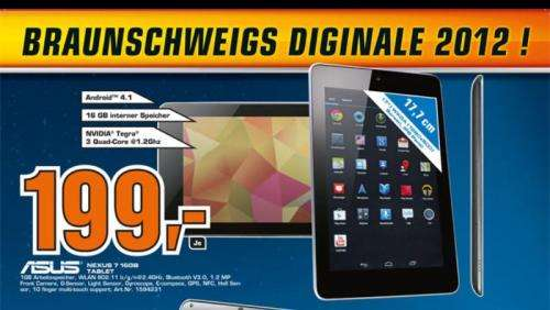 lokal nexus 7 16gb f r 199 im saturn braunschweig. Black Bedroom Furniture Sets. Home Design Ideas