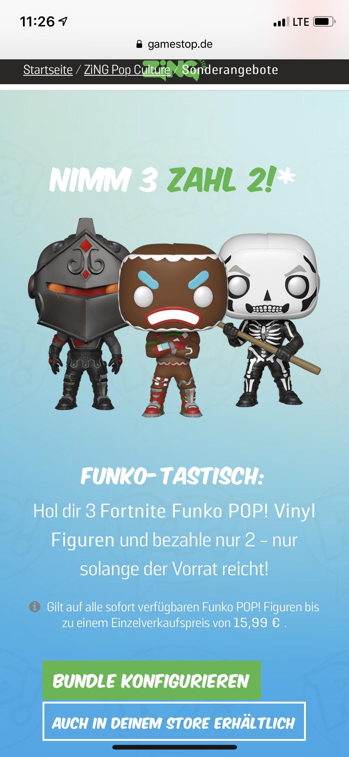 Fortnite Funko Pop Nimm 3 Zahl 2 Gamestop Mydealz De
