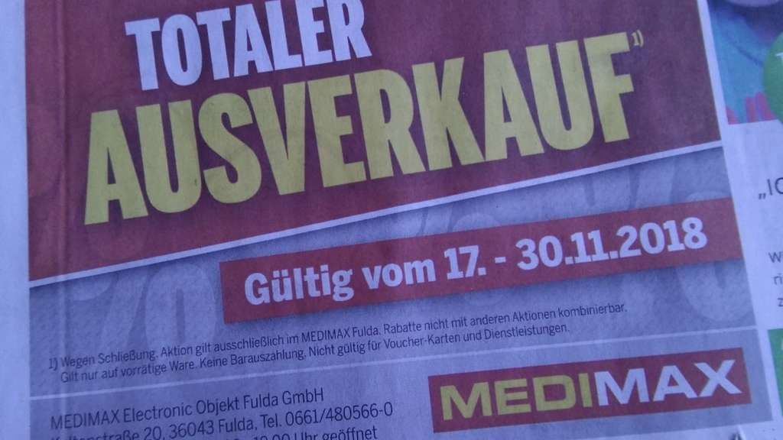 Fulda Räumungsverkauf Medimax Wegen Schließung Mydealzde