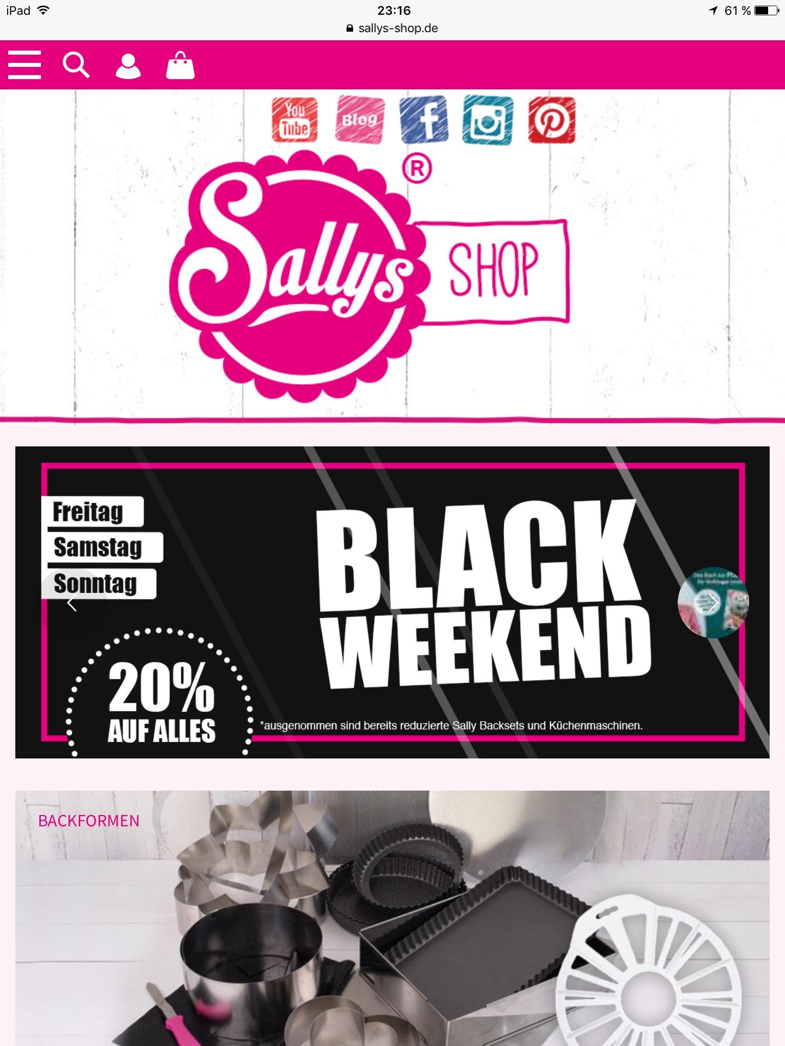 Black Friday 20 Im Sally Shop Einschliesslich Wochenende Mydealz De